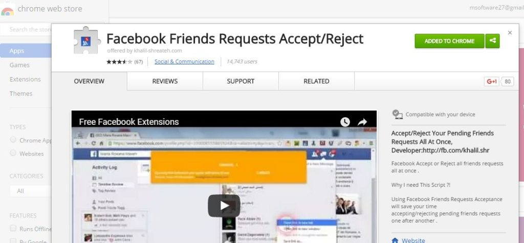 Facebook Add-on for Google Chrome