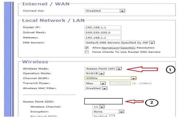 Gargoyle Router Wireless Settings