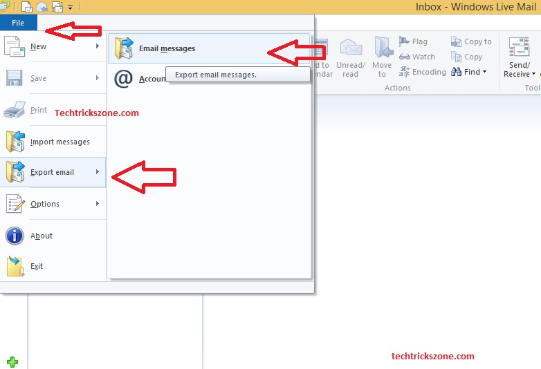 windows live mail backup pst in windows 10