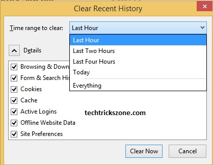 History Clear Setting in Chrome