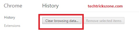 Clear Browsing Histroy in Google Chrome