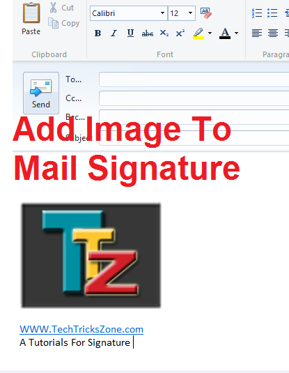Add Image Signatures to Windows Live Mail