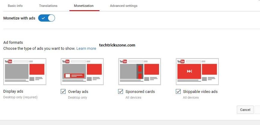 YouTube Channel Monetize