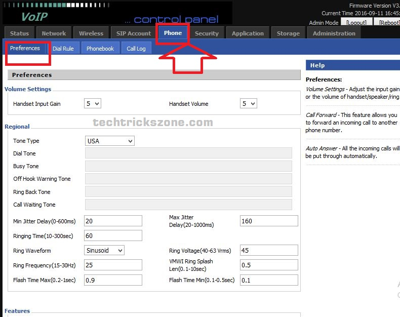 How to configure Phone in Flying Voice Voip Mini Router