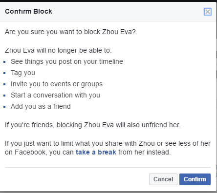 how to block facebook messages on iphone