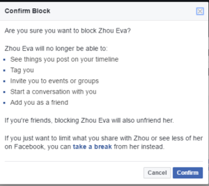 how to see block friends in facebook