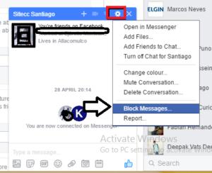 block messages facebook without unfriending