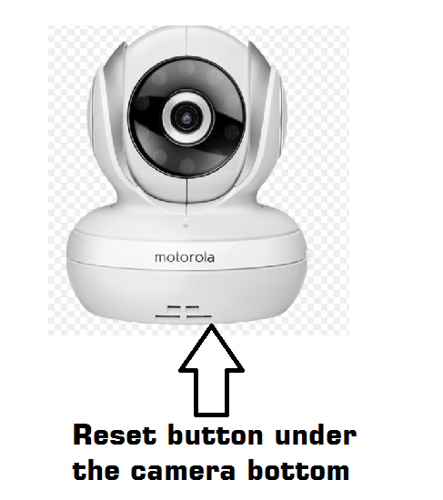 reset Motorola baby monitor camera with button