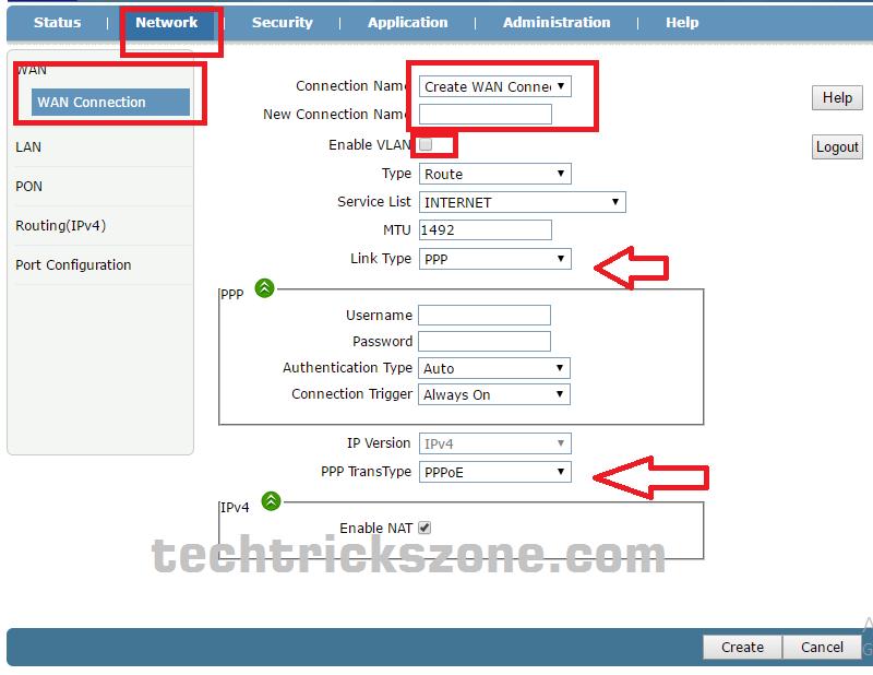 Fiber OLT configuration