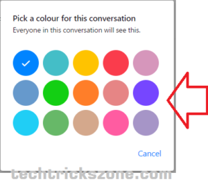how to change facebook chat colors to black