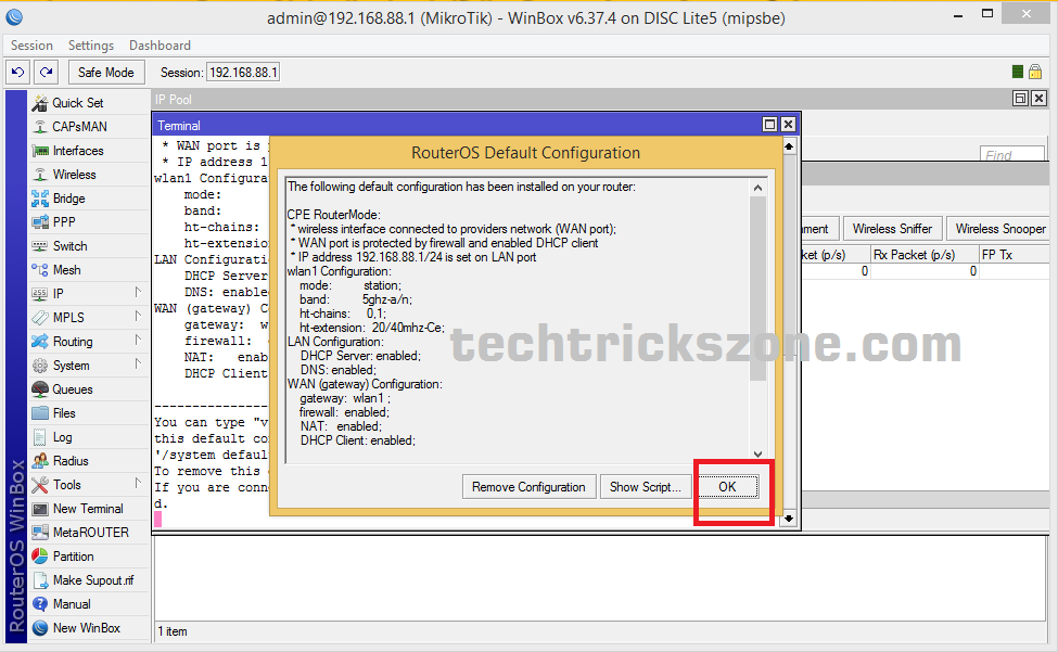 How to configure Mikrotik DISC Lite5 without winbox