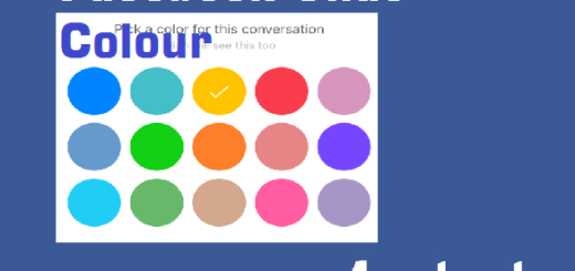 change Facebook chat colour and nicknames