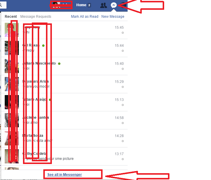 how to change facebook chat color on pc