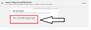 unable to login using profile picture in facebook