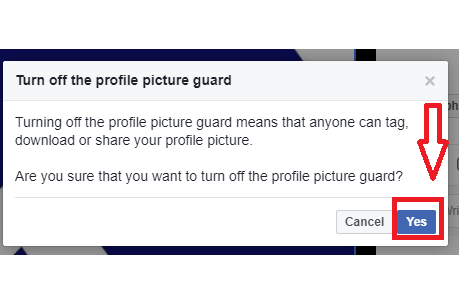 facebook profile picture guard not working