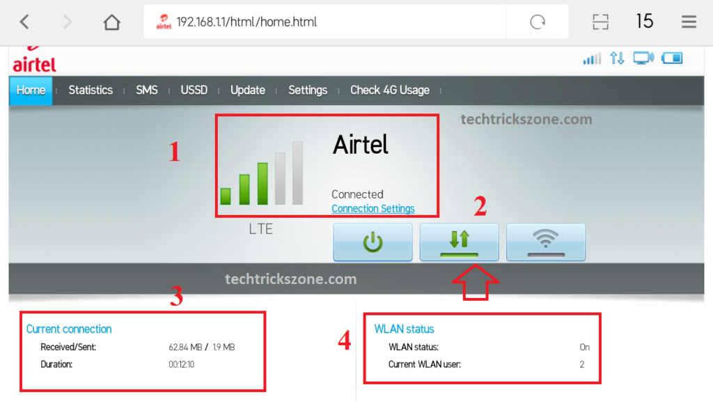 airtel 4g hotspot portable wifi router connect to pc