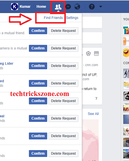 how to delete message requests facebook