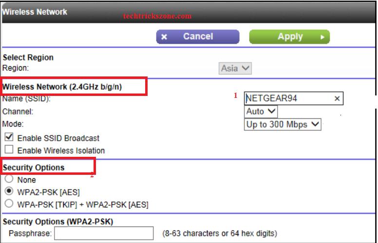 netgear wifi router change password