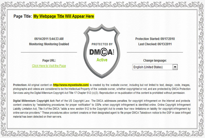 Dmca certified dating sites