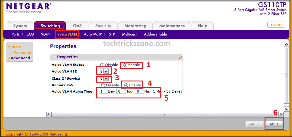 netgear m4100-d12g managed switch configuration