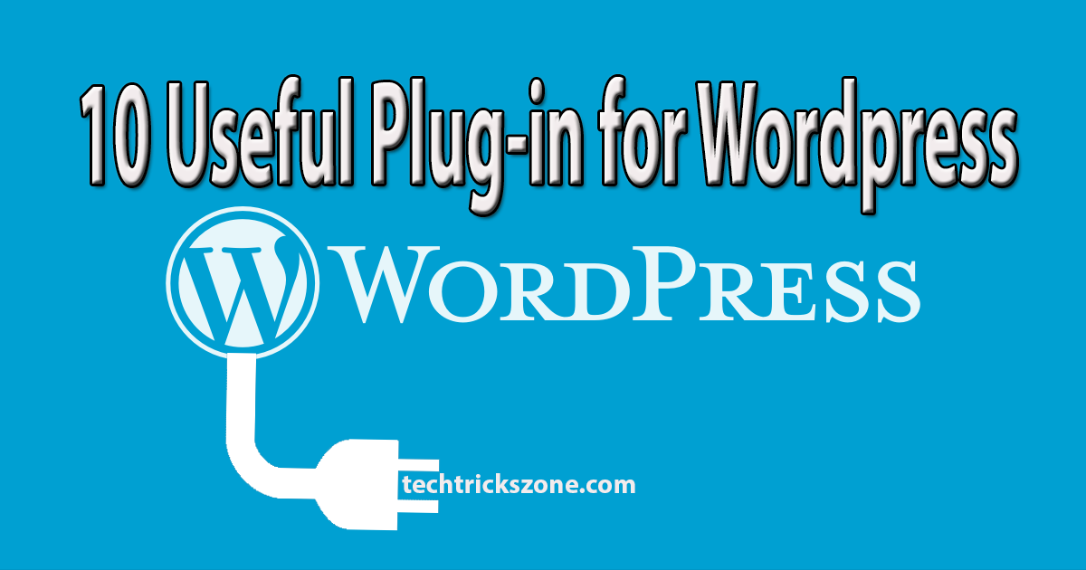 10 useful plug-in for wordpress