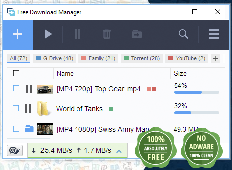 list of best download manager for windows 7