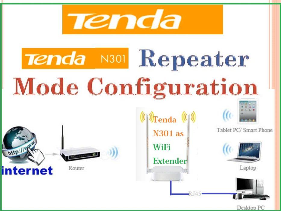 Tenda N301 Wi-Fi Repeater mode