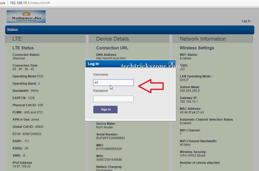 How to Hack Reliance JioFi (Mi-Fi) Portable Wi-Fi Router