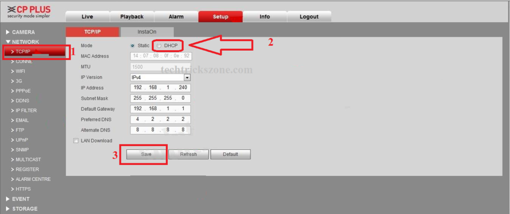 how to connect cp plus dvr to mobile without internet