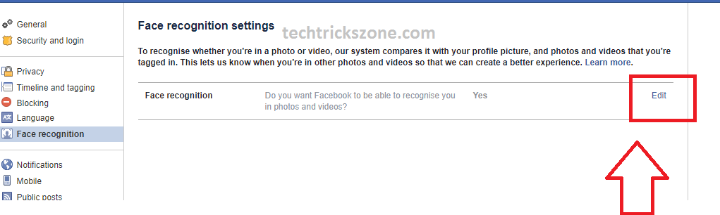 How to Turn On/ Off facebook Facial Recognition