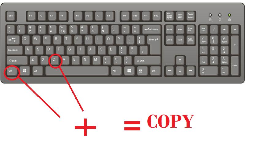 keyboard all shortcut keys list