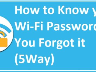 forgot my wifi password