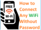 connect wifi without password