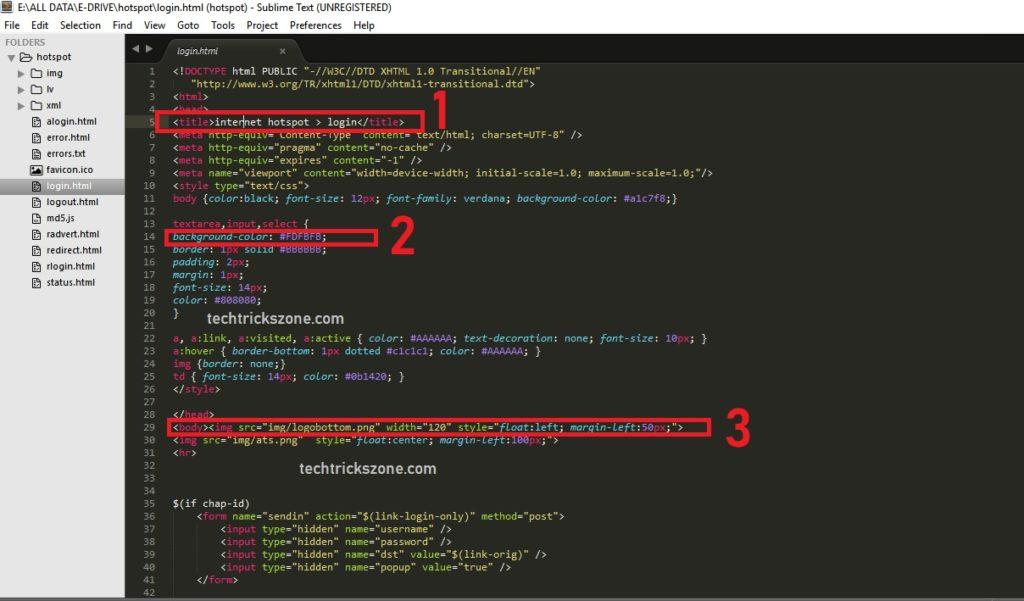 mikrotik hotspot login page template responsive