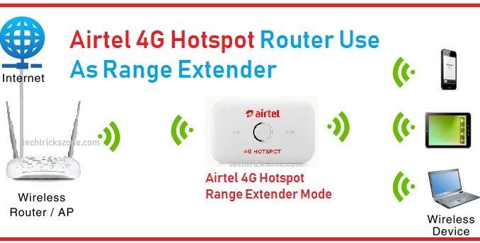 hotspot 4g router as range extender