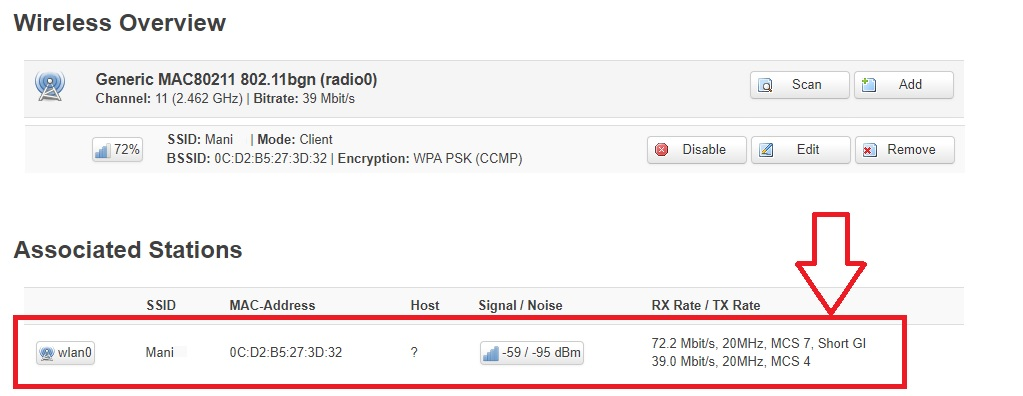 openwrt not show rx tx