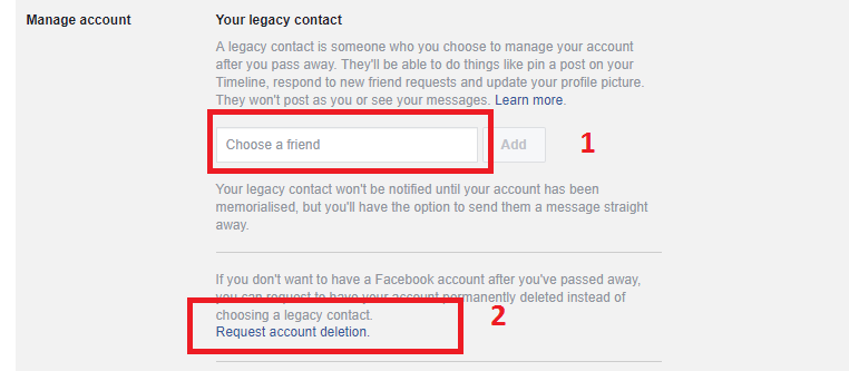 delete facebook account email address