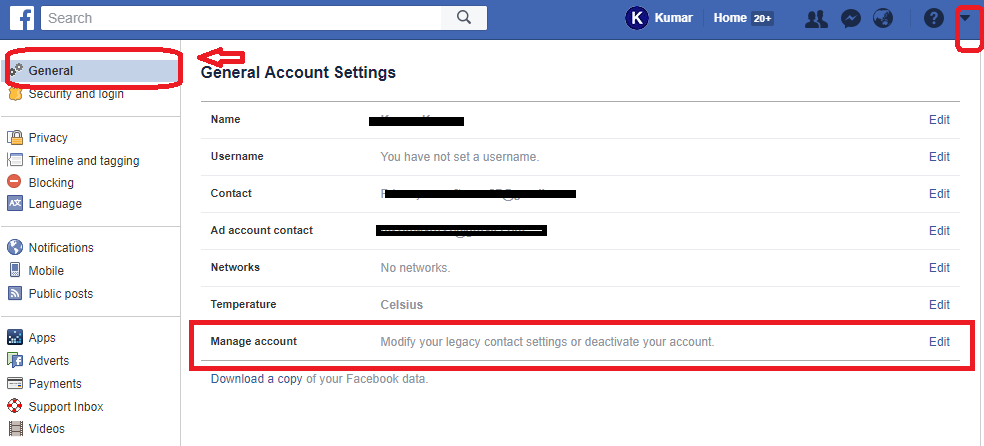 delete facebook account but forgot password