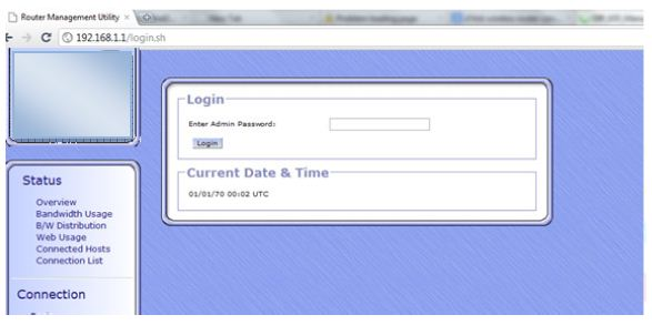 Speedifi Device Login PAge