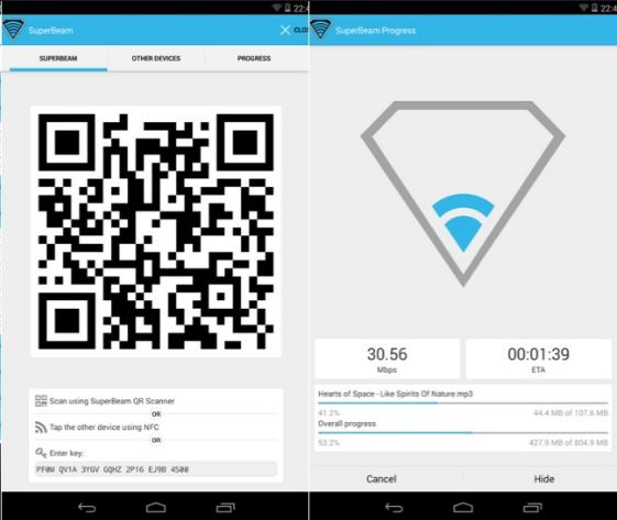 Larg File Sharing Android Apps