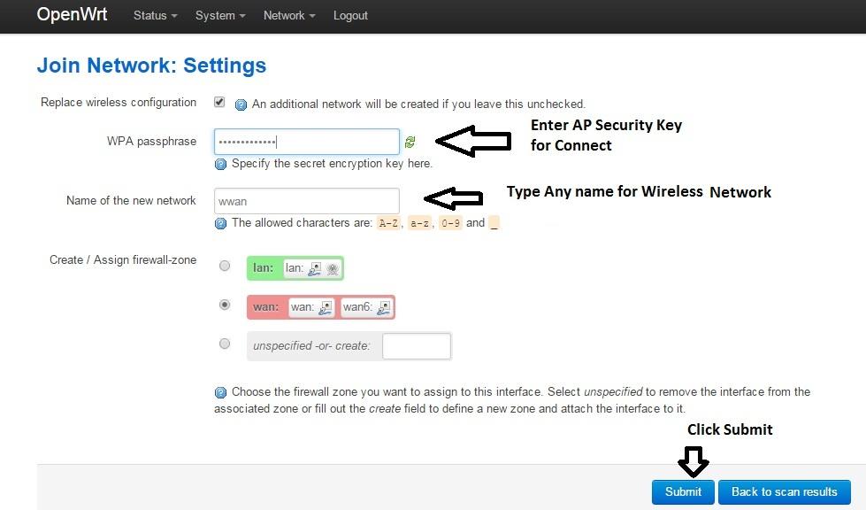 OpenWrt Chaos Calmer Client Router Mode