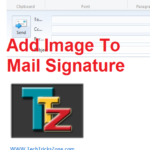 how to set signature with image in outlook