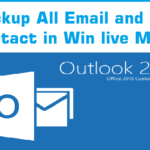 Backup Win Live mail and contacts
