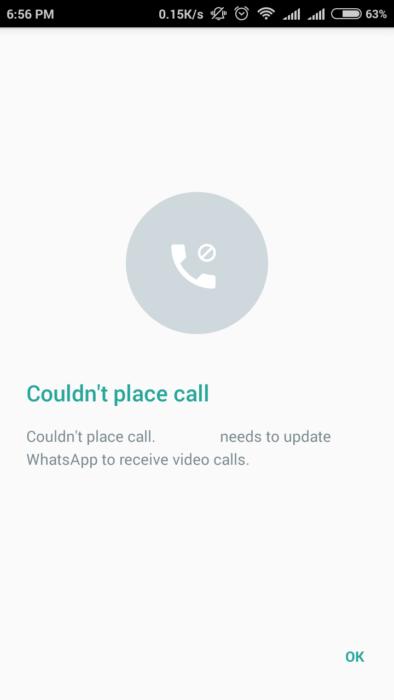 whatsapp video call to skype