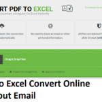 Convert PDF to Excel Online no Email Required
