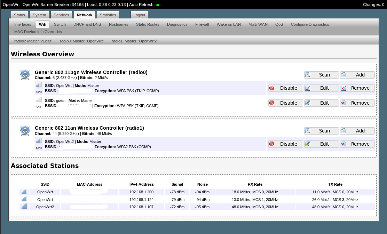 OpenWrt OpenSource Firmware