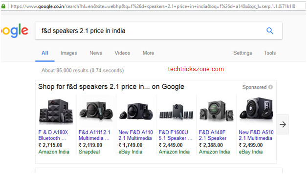Search Product on Google buy online