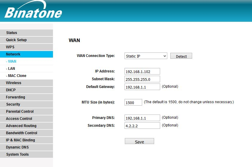 Binatone WR3005 300M Wireless Router PPPoE configuration