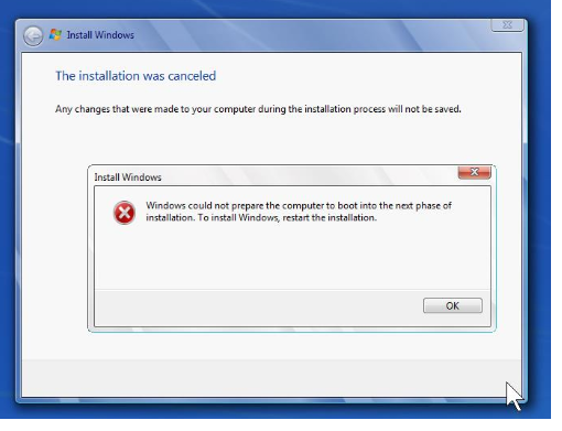 Windows 8.1 Installation Error