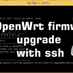 openwrt firmware upgrade with ssh command
